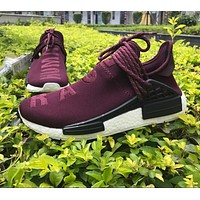 One-nice™ Best Online Sale Pharrell Williams x Adidas PW HU Human Race NMD Boost Sport Running Shoes Classic Casual Shoes Sneake
