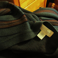 vintage wool button up cardigan. Tricots St. Raphael. oversized grandpa sweater. pure new wool