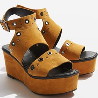 WIZZ Suede Studded Wedge | Topshop