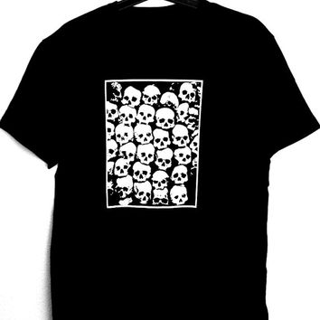 SKULLS T-Shirt for man,occultism,witchcraft,dark,goth,punk,skulls,horror,black