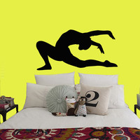 Wall Decals Girl Gymnast With A Ball Sport Gymnastics People Home Vinyl Decal Sticker Kids Nursery Baby Room Decor kk512