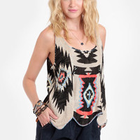 Desert Festival Embroidered Tank