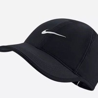 Nike Aerobill Featherlight Dri-Fit Black/White Unisex Tennis Cap Hat 679421-010