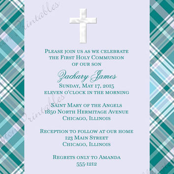 First Communion, Christening Announcement, Baptism Announcement,, Printable Announcement, DIY Invitation