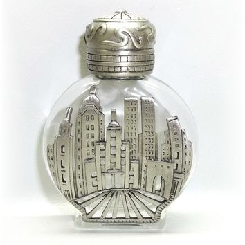 NYC New York Towers Collectible Small Perfume Bottle JJ Jonette