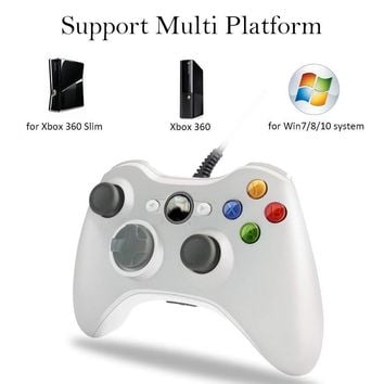 Zorx USB Wired Joypad Gaming Controller for Microsoft for Xbox 360 Slim Console For Windows 7 8 10 PC Gamer Box Joystick GamePad