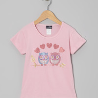 Pink Owl in Love Tee - Toddler & Girls