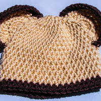 Baby Bear Hat with Ears Choose Your Own Colors Newborn Photo Prop-Halloween-Baby boy or Girl-Baby Shower Gift-Can Be Made with Earflaps