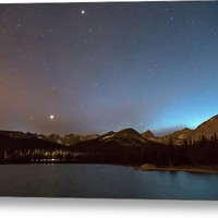 Colorado Brainard Lake Galaxy Night Metal Print