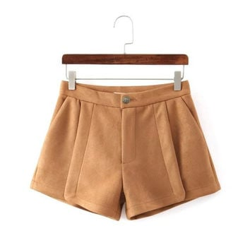 Winter Korean Stylish Thicken Boot Cut Shorts [4917795076]