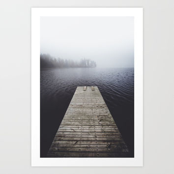 Fading into the mist Art Print by happymelvin