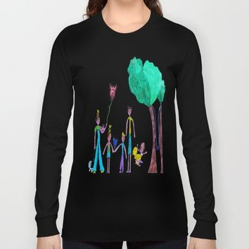 Walk in the forest Long Sleeve T-shirt by Azima