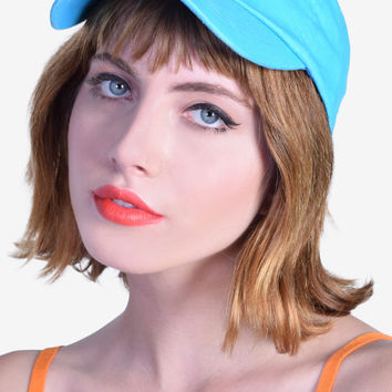 90s Babe BB Girl Hat - Blue