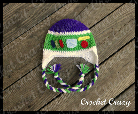 Buzz Lightyear inspired Crochet hat with from ...