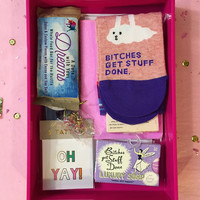 Bitches Get Stuff Done Gift Box in Hot Pink - FREE US SHIPPING
