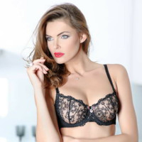 Demi Cup Sheer Lace Bra Caprice Gina