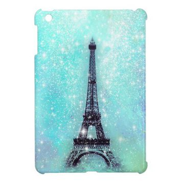 Eiffel Tower Pastel Turquoise iPad Mini Case from Zazzle.com