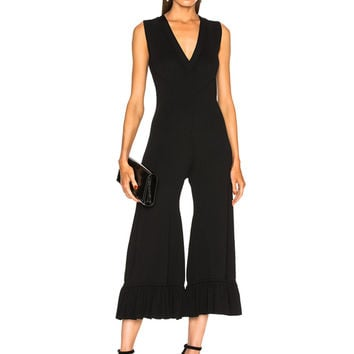 Alexis Safire Jumpsuit in Black | FWRD