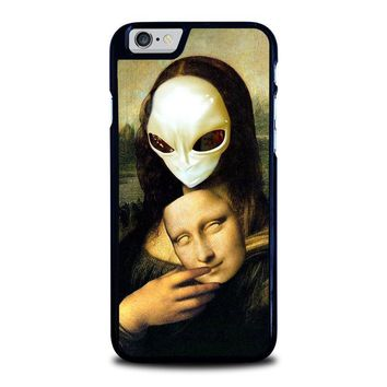 mona lisa alien iphone 6 6s case cover  number 1