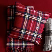 Tartan Wool Pillow Cover with Fringe, Wilkes