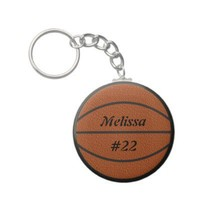 Basketball Keychain from Zazzle.com