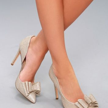 Prince Gold D'Orsay Pumps