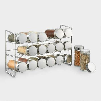 18 Jar Compact Kitchen Spice Rack