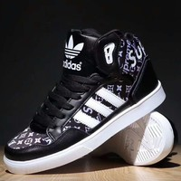 Adidas LV Supreme Trending Women Men Running Sport Casual Shoes Sneakers Black G-SSRS-CJZX