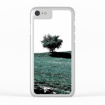 Tree On Hill Clear iPhone Case by ARTbyJWP