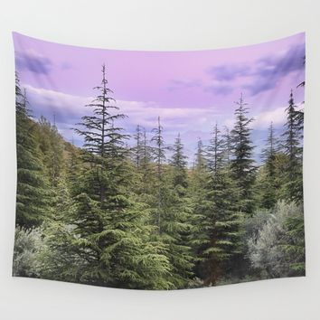 """Wildderness II"". Sunset at the mountains... Wall Tapestry by Guido Montañés"