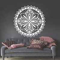 Mandala Wall Stickers Decals Indian Pattern Yoga Oum Om Sign Decal Vinyl Home Decor Art Murals Ah187