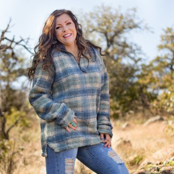 Mint & Navy Southern Marsh Pullover