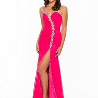 Beaded Single Shoulder Strap Formal Prom Dress By Showtime 2150
