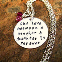 Mother and Daughter Jewelry, Hand Stamped Jewelry, Personalized Jewelry