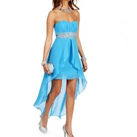 Presley- Turquoise Prom Dress