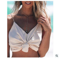 2016 Trending Fashion Summer Sexy Backless Spagehetti Strap V Neck Zipper Erotic Top Women Tank Vest _ 7924