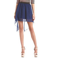 Solid Chiffon Hi-Low Skirt: Charlotte Russe