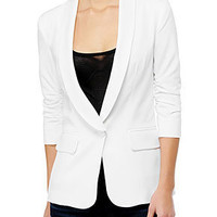 William Rast Official Store - Rushed Sleeve Blazer