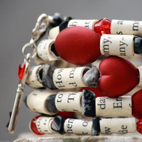 Twilight Saga Upcycled Book Jewelry: Bracelet