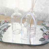 Vintage Shabby Chic/Cottage Style Mirrored Tray