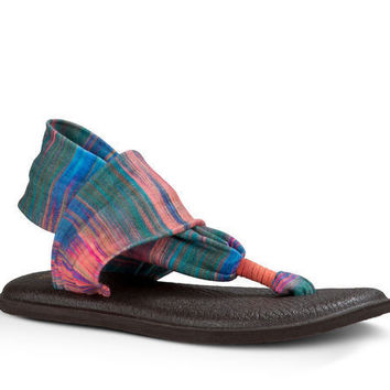 Sanuk Yoga Sling 2 Prints Multi Ikat Sandals