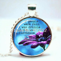 10pcs Looking for Alaska, I Was Drizzle, John Green Quote Necklace