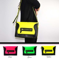 Fluorescence Smiley Satchel