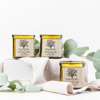 Natural Soy Candle w/ Wooden Wick