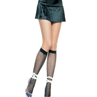 Leg Avenue Black Fishnet Knee High Stockings