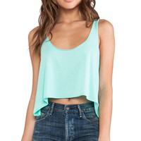 Daftbird Loose Cropped Tank in Mint