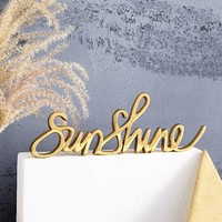 Brass Word Object - Sunshine