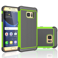S3 S4 S5 Neo S6 S7 Case Rugged Silicon Armor Shockproof Hard Case For Samsung Galaxy S7 Edge S6 Edge S5 S4 Mini Case Back Capa