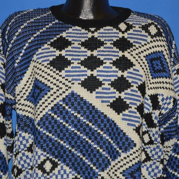 80s Oakton Limited Geometric Sweater Large