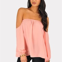 Perfection Off The Shoulder Top - Bright Pink